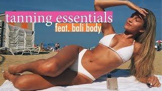 tanning essentials: how to get that bronzed glow feat. bali body | maddie cidlik