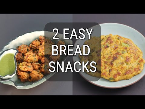 2 Quick Bread Snack Recipes With Leftover Homemade Bread – Bread Pakoda/Pakora – Bread Chilla Recipe
