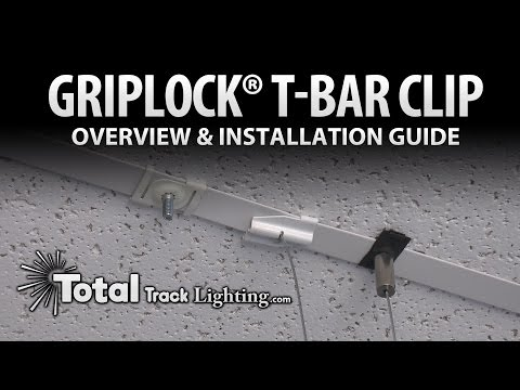 drop ceiling track lighting installation. griplock track lighting suspension system; t-bar clip overview and installation guide drop ceiling o
