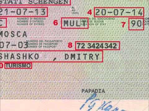 Как выглядит Шенгенская виза - как читать визу в Шенген