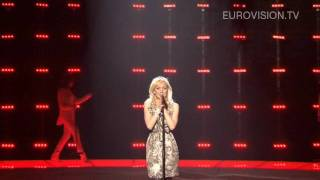 Anna Bergendahl's second rehearsal (impression) at the 2010 Eurovision Song Contest