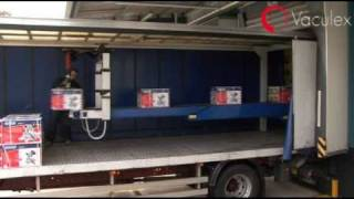 Unloading Containers and Trucks at Draper Tools Limited - using Vaculex ParceLift and Vaculex TP