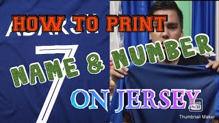 How to Print Names and Numbers on Jerseys using heat press   Heat Transfer Vinyl