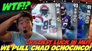 LUCKIEST PACK LUCK EVER! WE PULL CHAD JOHNSON! 2 MILL WORTH! MADDEN 17 ULTIMATE TEAM