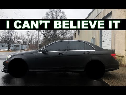 MURDERED out MERCEDES gets NEW wheels