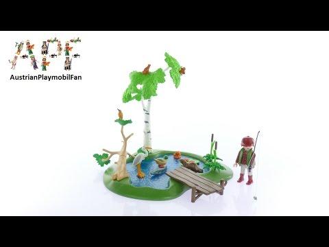Vidéo PLAYMOBIL Country 6816 : Ilot avec pêcheur et animaux