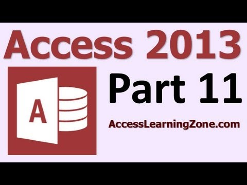 Microsoft Access 2013 Tutorial Level 1 Part 11 of 12 - Customer Reports