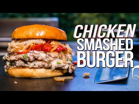 CHICKEN SMASHED BURGERS | SAM THE COOKING GUY 4K