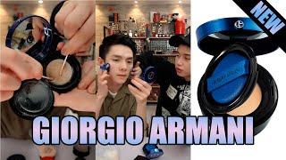 GIORGIO ARMANI (*NEW DESIGNER ESSENCE-IN-BALM MESH CUSHION) *新款阿玛尼電光藍氣墊 - 李佳琦