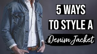 Denim Jackets For Men: 5 Jean Jacket Outfit Ideas