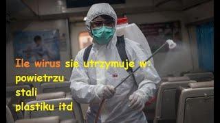 Ile wirus sie utrzymuje w powietrzu i na roznych materialach -Wujek Timo