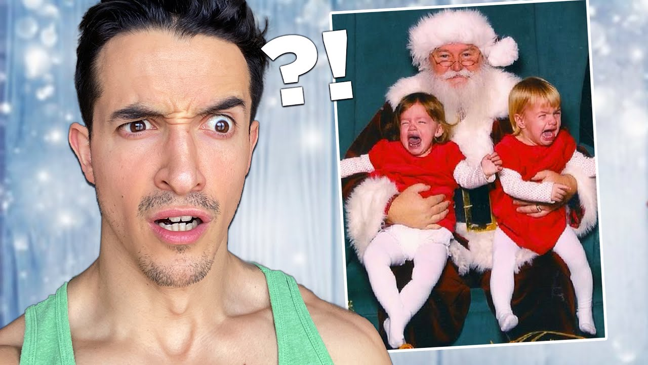 Je regarde les pires vidéo de Noël ! (ce Père Noël passe une mauvaise journée !)