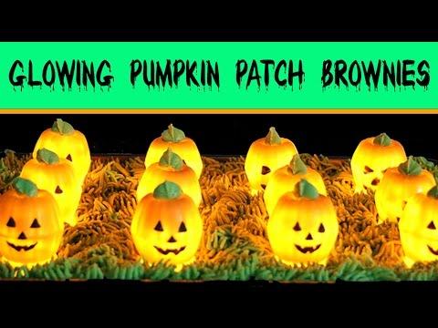 Chocolate Brownie Pumpkin Patch Recipe | How to Make GLOWING Halloween BROWNIES Pie