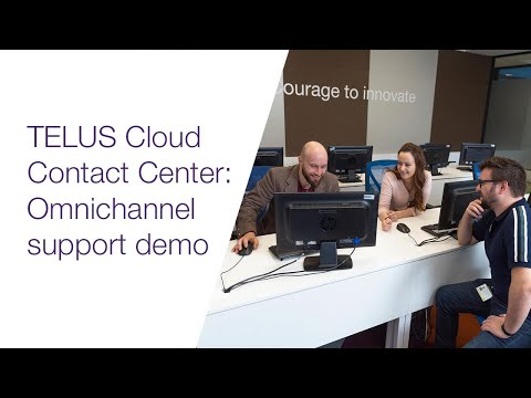 Image cover of video:  The TELUS Cloud Contact Center omnichannel support feature enables your agents to serve customers via voice, email, social media, and chat - all within the same tool and user interface.