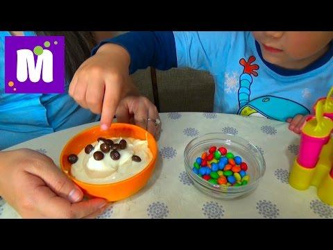 Готовим малиновое шоколадное мороженое с тётей Людой (видео)