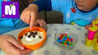 Готовим малиновое шоколадное мороженое с тётей Людой