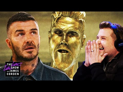 The David Beckham Statue Prank (видео)