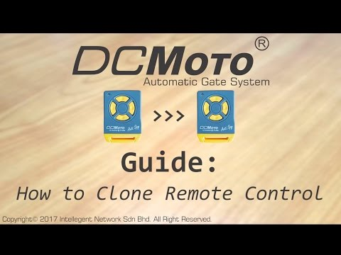 How to Copy Remote Control (DCMoto)