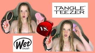 WET BRUSH VS. TANGLE TEEZER