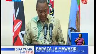 Rais Uhuru Kenyatta awateua baraza lake la mawaziri