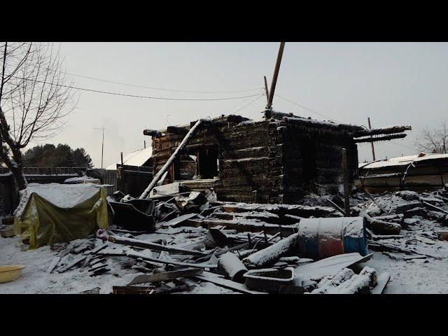 В Иркутской области горят частные дома