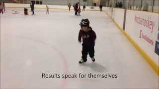 4 year old learned to ice skate in 6 public skates on Balance Blades