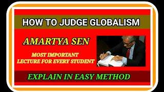 HOW TO JUDGE GLOBALISM BY AMARTYA SEN   AMARTYA SEN HOW TO JUDGE GLOBALISM   WHAT IS GLOBALISATION