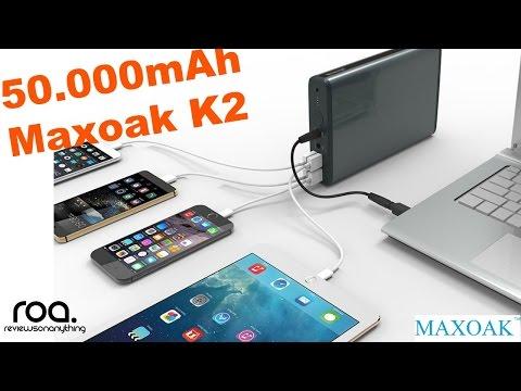 MAXOAK 50.000mAh Powerbank review