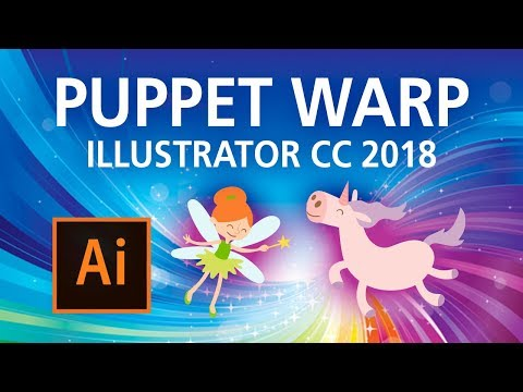 Illustrator CC 2018 - NEW Puppet Warp Tool!