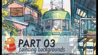 "Making ""Yuragi"" PART 03 - painting backgrounds"