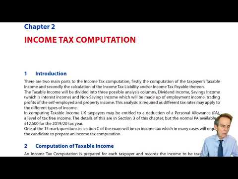 Introduction to Income Tax Computation – ACCA ... - YouTube