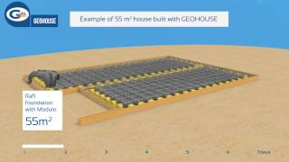GEOHOUSE alternative building method by Geoplast