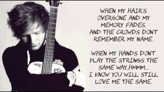 Thinking Out Loud by  Ed Sheeran letra