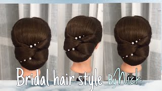 ผมเจ้าสาวแนวเรียบหรู Bridal Hair Style