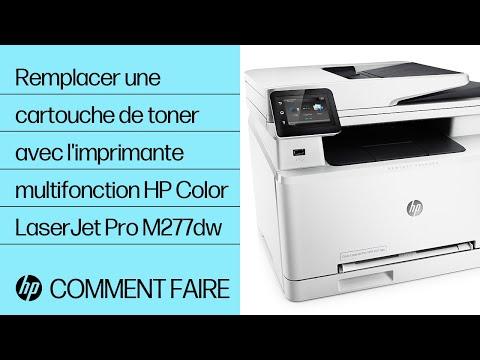 Remplacer une cartouche de toner avec l'imprimante multifonction HP Color LaserJet Pro M277dw