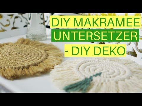 DIY Makramee Untersetzer | Schneckenförmigen Makramee Untersetzer selber machen (Deutsch)