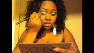 Jamaicaa 50th independence makeup look