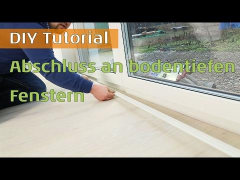 Abschluss an bodentiefen Fenstern - Abschlussprofile