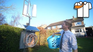 Wind/Solar Powered Clothes Dryer