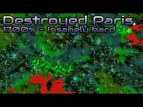 They are Billions - Destroyed Paris (1700%)  - custom map - No pause