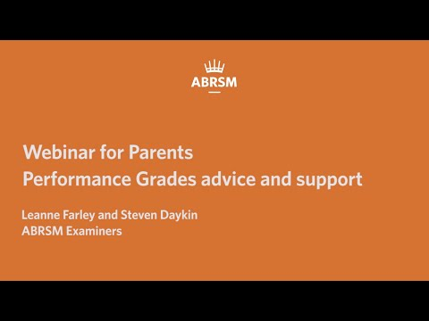 Performance Grades webinar: advice and support for parents and ...