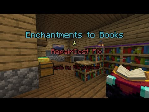 Enchantments to Books & RepairCost Fix Minecraft Data Pack
