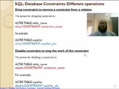 Oracle Drop, Disable and Enable Constraints تعليم اوراكل