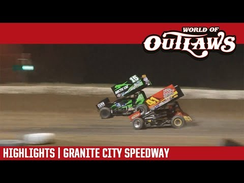 World of Outlaws Craftsman Sprint Cars Granite City Speedway June 20, 2017   HIGHLIGHTS