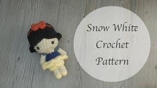 Crochet Snow White Free Amigurumi Pattern 🍎