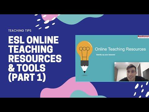 ESL Online Teaching Resources & Tools (Part 1)