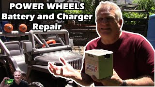 Power Wheels Jeep Battery and Charger Repair for FREE - Almost