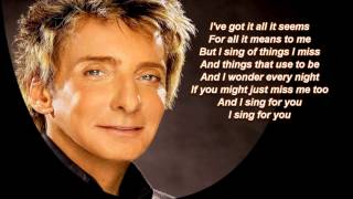 This One's For You + Barry Manilow + Lyrics / HD