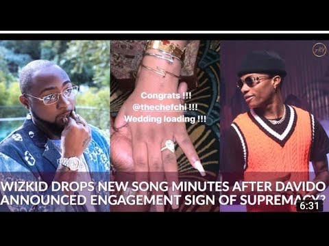 Davido Announces Engagement To Chioma Hours Later Wizkid Drops NewSong?