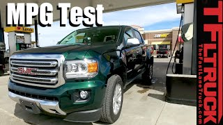 2016 GMC Canyon Duramax Diesel MPG Review: And the Most Fuel Efficient Truck in the U.S. is...